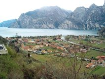 Lago di Garda. View over Torbole and Garda lake Royalty Free Stock Photography