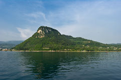 Lago di Garda. Biggest Italy's Lake Garda in sunrise Royalty Free Stock Photography