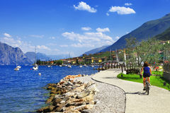 Lago di Garda activities Stock Photography