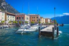Lago Di Garda Gargnano Fotografia Royalty Free