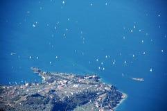 Lago di Garda, Italia fotografia stock