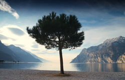 Lago di Garda - Italien Stockbild