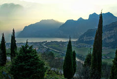 The Lago Di Garda, Italy. Stock Image
