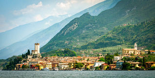 Lago di Garda Malcesine Stock Photography