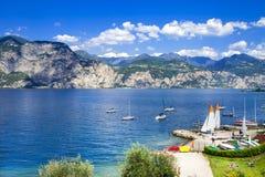 Lago di Garda, Malcesine Royalty Free Stock Photography