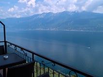 Lago di Garda Sjö Garda Italien norr Italien Arkivfoto