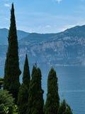 Lago di Garda Sjö Garda Italien norr Italien Arkivbild