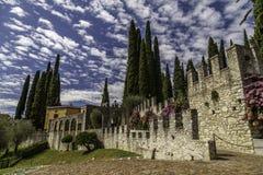 Lago Di Garda - View Of Vittoriale Degli Italiani, House Of Poet Gabriele D`Annunzio Stock Photography