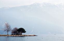 Lago Di Garda at winter Royalty Free Stock Photography