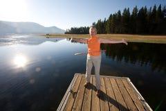 lago di hula fotografie stock
