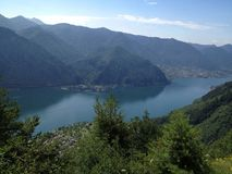 Lago di Idro. Top of the hill overlooking Lago di Idro, Italy Stock Image
