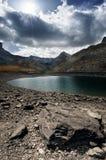 Lago di Lauzanier Fotografie Stock Libere da Diritti
