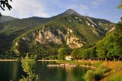 Lago di Ledro, lac Ledro Photos libres de droits