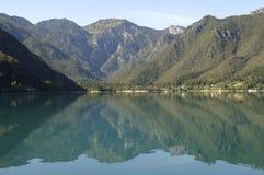 Lago di Ledro, lago Ledro Fotografie Stock Libere da Diritti