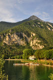 Lago di Ledro, lago Ledro Imágenes de archivo libres de regalías