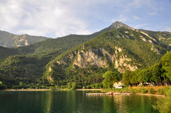 Lago di Ledro, lake Ledro Stock Photo