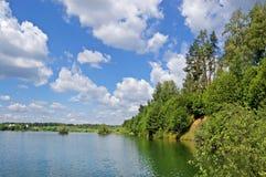 Lago di legno Immagini Stock