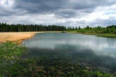 Lago di legno. fotografie stock