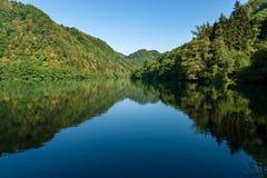 Lake of Levico - Trentino Alto Adige - Italy. Lago di Levico Lake, Trentino Alto Adige, Levico Terme, Italy, Europe stock photography