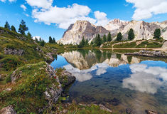 Lago di Limides in Dolomite Alps, Italy Royalty Free Stock Photos