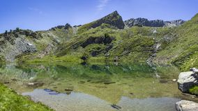 Lago di Loie in den italienischen Alpen Lizenzfreie Stockbilder