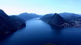 Lago di Lugano Zdjęcia Royalty Free