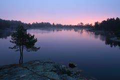 Lago di mattina Fotografia Stock