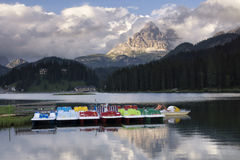 Lago di Misurina Stock Photo