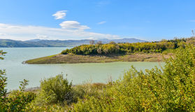 Lago di Monte Cotugno in Basilicata, Italy Royalty Free Stock Image