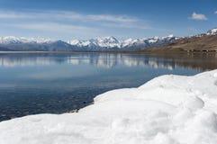 Lago di moriri di TSO nel leh, ladakh India Immagini Stock Libere da Diritti