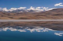 Lago di moriri di TSO nel leh, ladakh India Fotografie Stock