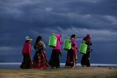 Lago di namucuo del Tibet Fotografia Stock