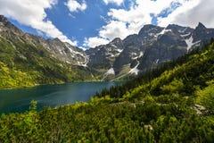 Lago di oko di Morskie, montagne di Tatra, Zakopane, Polonia Fotografie Stock