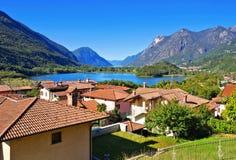 Lago di Piano e lago di Lugano Fotografia Stock Libera da Diritti