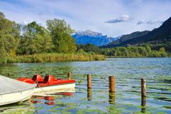Lago di Piano in Italy Royalty Free Stock Photography