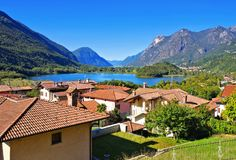 Lago di Piano and Lake Lugano Royalty Free Stock Photography