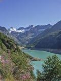 Lago di Place Moulin stockfoto