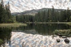Lago di pleso di Vrbicke sulla valle di dolina di Demanovska in montagne di Nizke Tatry in Slovacchia immagine stock libera da diritti