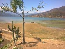 Lago di Pokhara Fotografia Stock