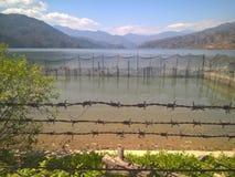 Lago di Pokhara Immagini Stock