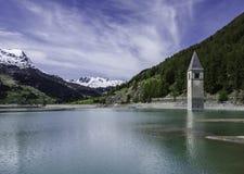 Lago di Resia Stock Image