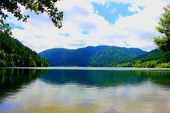 Lago di retournemer nella foresta dei Vosgi immagini stock libere da diritti