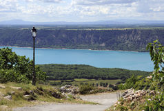 Lago di Sainte-Croix (Francia) Immagini Stock Libere da Diritti