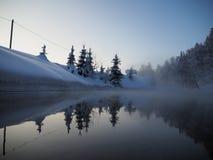 Lago di Sarva durante l'inverno Fotografia Stock