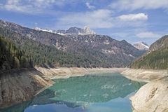 Lago di Sauris in Friuli. Lago di Sauris - idyllic lake in the Karnische Alps Royalty Free Stock Photography