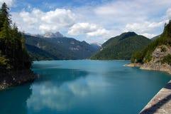 Lago Di Sauris, Friuli Venezia Giulia Włochy - Zdjęcia Stock