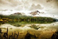 Lago di Segl Svizzera Fotografie Stock