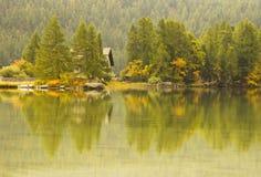 Lago di Segl Svizzera Immagini Stock Libere da Diritti