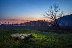 Lago di Segrino Fotografia Stock Libera da Diritti
