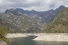 Lago di Selva in Friuli. The idyllic Lago di Selva with its imposing 111 m high dam is located in the Dolomites Friaulaner Royalty Free Stock Images